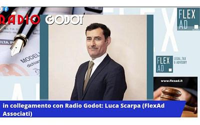 """Sport & Covid, Luca Scarpa (FlexAd Associati) in live su Radio Godot: """"situazione difficile per molti settori"""""""