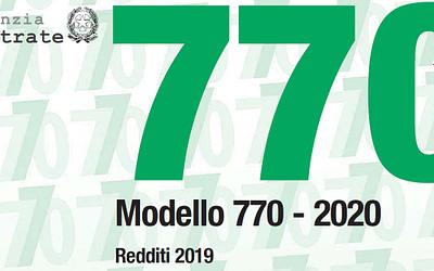 Rinviata al 10 dicembre la presentazione del mod. 770